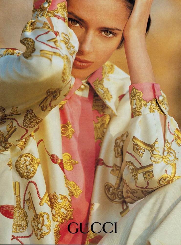 1991 Gucci print advertisement featuring Heather Stewart Whyte - Vintage Gucci advertising campaigns archive