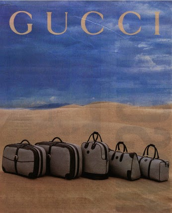 1992 Gucci luggage set in leather and canvas - Vintage Gucci advertising campaigns archive