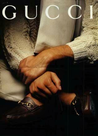 1993 Gucci horsebit loafers - Vintage Gucci advertising campaigns archive