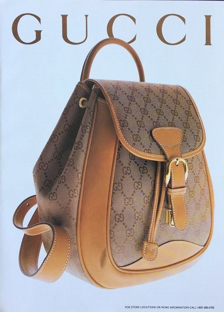 1994 Gucci monogram bag print ad - Vintage Gucci advertising campaigns archive
