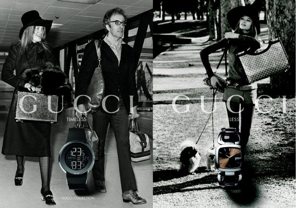 2010 Gucci Timeless Ad Campaign with Peter Sellers and Veruschka - Gucci advertising campaigns archive